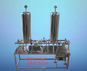 雙級過濾系統 可有效濾除濾液中微小顆粒,懸浮物,微小細菌,目