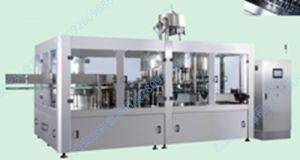液體飲料灌裝機、全自動沖瓶灌裝旋蓋三合壹機組